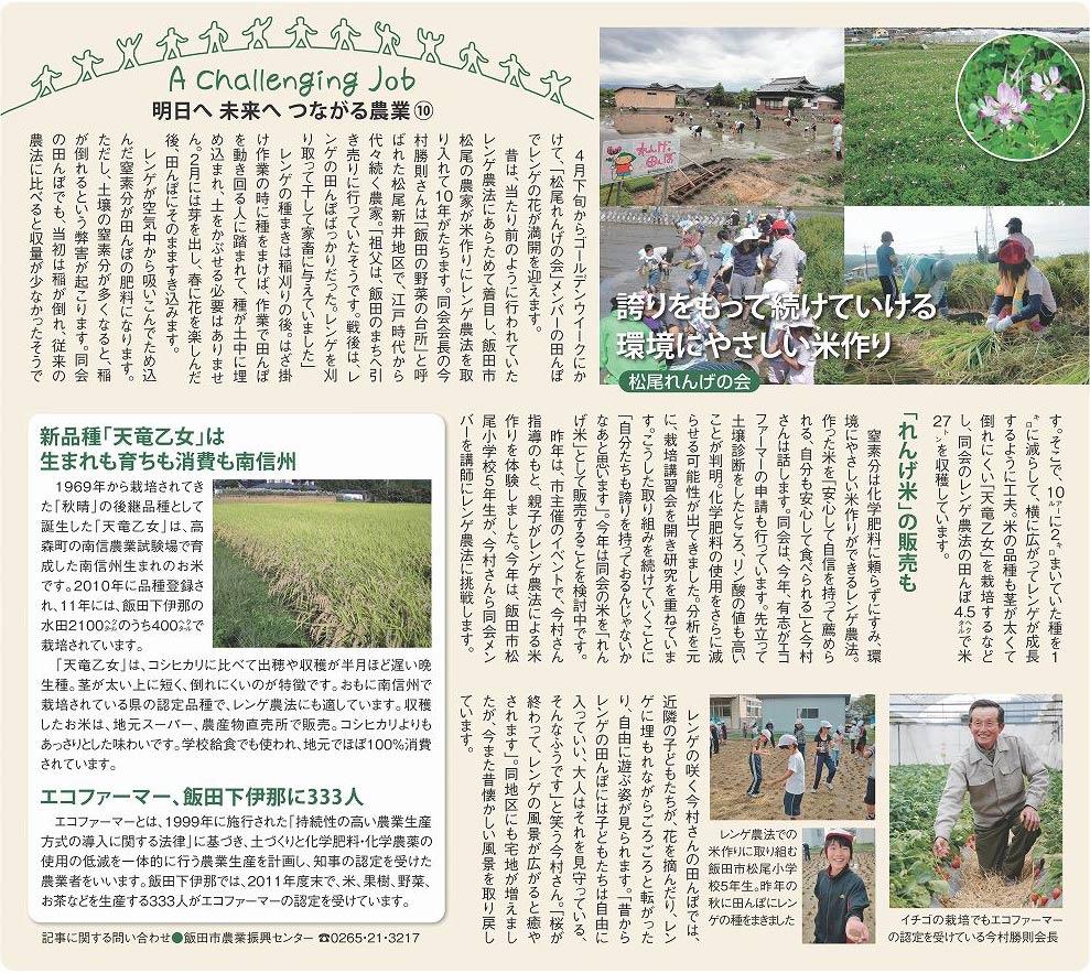 明日へ未来へつながる農業(10)2012年4月