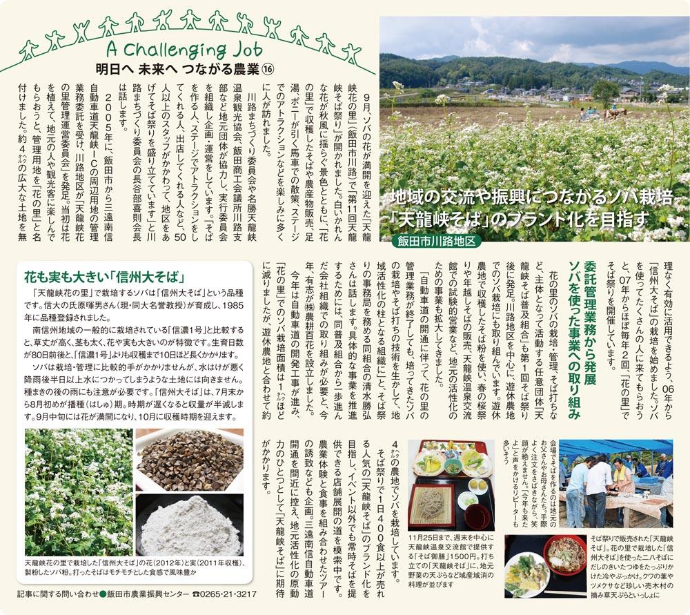 明日へ未来へつながる農業(16)2012年10月